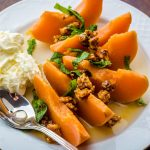 Quince Poached in Viennese White Wine (Recipe) #QuitteWienerGemischterSatz