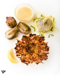 Roman Jewish Artichoke's 3+ Ways: Braised, Deep Fried & Confit (Sous-Vide). Sigmund Freud's Dream About The Worm In His Favorite Flower, The Jewish Thistle (Recipe) #CarciofiAllaRomana #CarciofiAllaGiudia