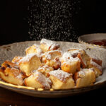 """Kaiserschmarrn,"" Vienna's Shredded Soufflé Pancake: The Emperor's Light & Fluffy ""Mess"" With A ""Roasted"" Fruit Stew at Pre-Holocaust Kosher Restaurant Neugröschel (Recipe). #Sisi #Torberg"