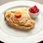 "Two Old Vienna ""Gefilte Fish"" Recipes: One Fried & One Poached ""Rabbi"" Style, Stuffed Back Into Carp Steaks With Its ""Kapl,"" Red ""Chrain"" And Jellied ""Yoich"" (Recipes) #Neugröschel"